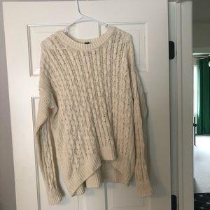 Cream knit sweater